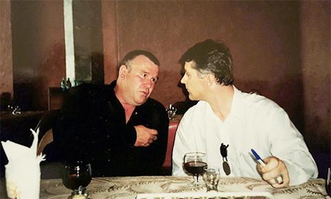 Слева: Воры в законе Анатолий Темников - Сапог и Сергей Бойцов - Боец