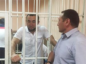 Улан Токтосунов (Сакал) на заседании Первомайского суда, 08.06.2016, Бишкек