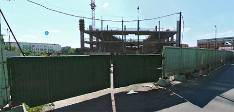 незавершенное строительство на Логунова 7