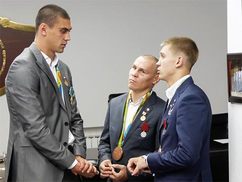 Евгений Тищенко, Владимир Никитин и Виталий Дунайцев