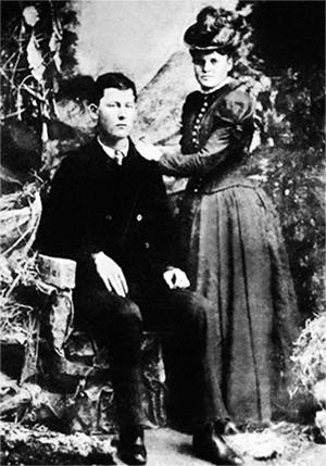 Боб Далтон и его беременная жена Люси Джонсон