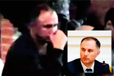 Человек, похожий на Марата Оганесяна, на «воровской сходке»