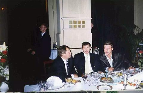 Слева: Михаил Глущенко, Владимир Кумарин, Руслан Коляк