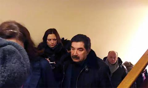 Петр Кацыв на оглашении приговора Барановскому