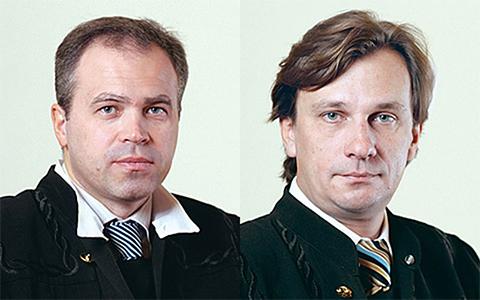 Судьи Игорь Корогодов и Вадим Сторублев