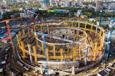Реконструкция Центрального стадиона (будущая Екатеринбург Арена)
