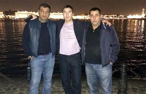 Слева воры в законе: Шалва Озманов (Кусо), Малхаз Котуа (Махо Очамчирский) и Ара Мурадян (Ара Армавирский)