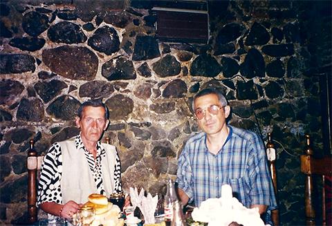 Слева воры в законе: Зури Цинцадзе и Авто Глонти