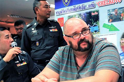 Александр Матусов в Таиланде перед экстрадицией в Россию