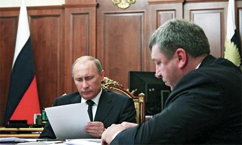 Албин на приеме у Владимира Путина