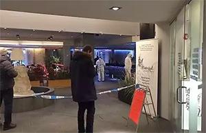 На месте происшествия в холле отеля Metropol