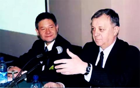 Слева: Леонид Рейман и Валерий Яшин