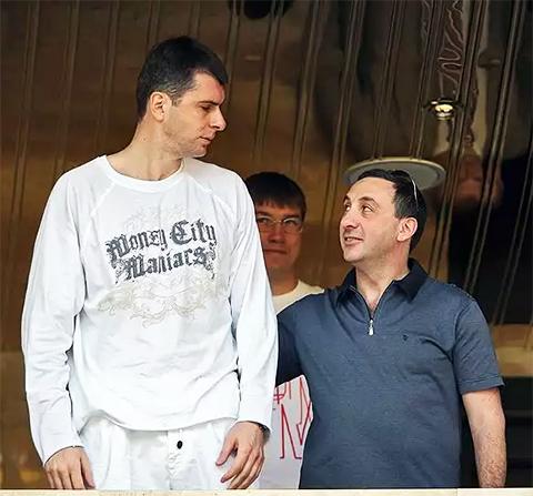 Слева: Михаил Прохоров и Евгений Гинер