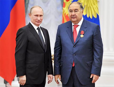 Алишер Усманов на встрече с Владимиром Путиным