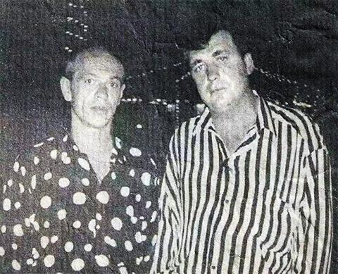Слева воры в законе: Шурик Захар и Вася Бандит (Голландия 1994год)