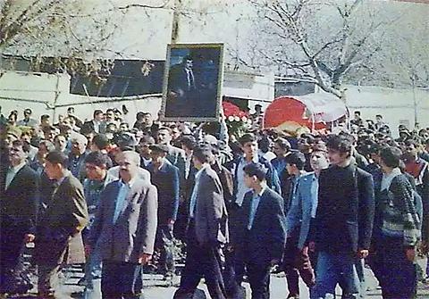 Похороны Бахтияра, апрель 1998 года, Азербайджан