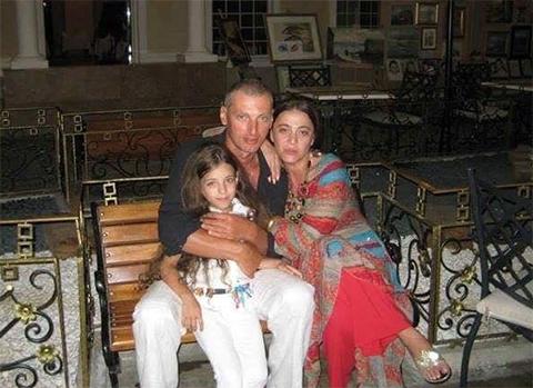 Бадри Когуашвили с женой и дочкой
