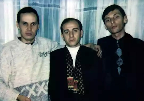 Слева воры в законе: Александр Окунев (Огонек), Рамаз Дзнеладзе и Бадри Когуашвили