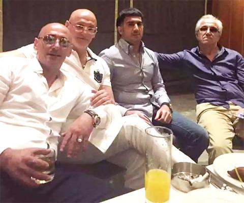 Слева: вор в законе Хусейн Ахмадов, Хасан Ахмадов и вор в законе Ровшан Джаниев