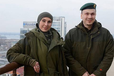 Амина Окуева и Адам Осмаев
