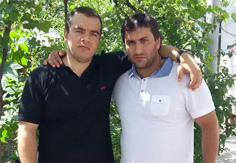 Слева вор в законе Ахмед Домбаев (Ахмед Шалинский) и Рачо