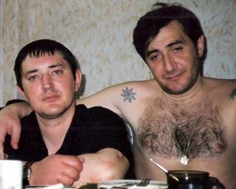 Слева воры в законе: Сергей Акимов (Аким Волгоградский) и Камо Егиазаров (Камо Московский)