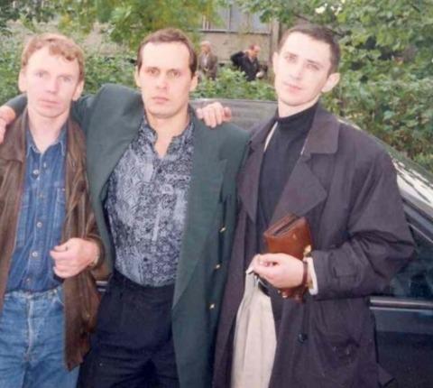 Слева воры в законе: Владимир Клещ (Щавлик), Александр Окунев (Огонёк) и Сергей Акимов (Аким Волгоградский)