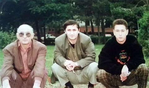 Слева воры в законе: Рауль Гогилава, Вахо Эхвая и Олег Семакин (Ева), 1993 год, Сахалинская область