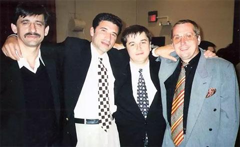 Слева: 2) Нодар Фаризян (Ноно), 3) Осман Кадиев, 4) Александр Тимошенко (Тимоха Гомельский)