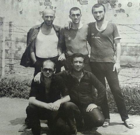 Вверху: 2) Малхаз Мосестов, 3) Георгий Углава (Тахи), Грузия, ИТК-46; Цулукидзе