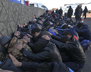 Массовая стычка гастрабайтеров в Москве
