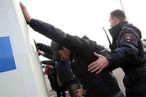 В ходе беспорядков полиция задержала 67 человек