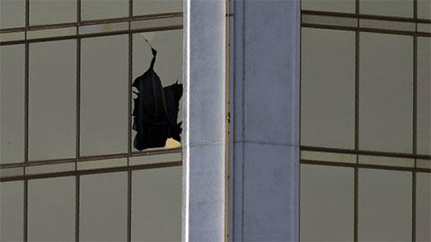 Окно из которого велась стрельба по людям