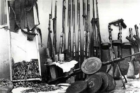 Оружие, изъятое в штабе УВС-1