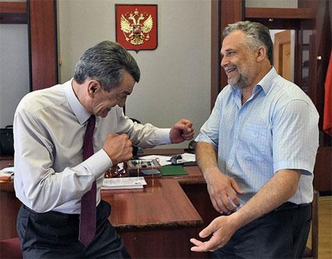 Слева: Сергей Меняйло и Алексей Чалым