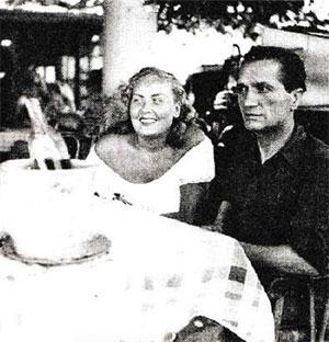 Антуан Герини с подругой
