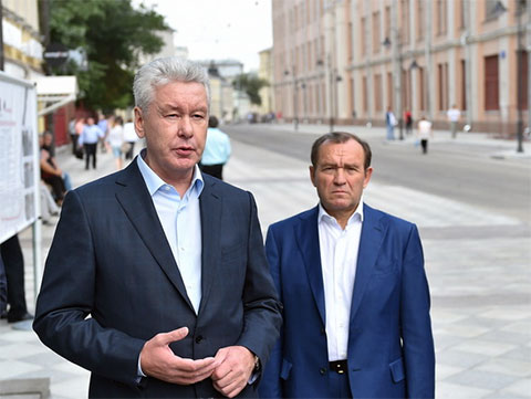 Слева: Сергей Собянин и Петр Бирюков