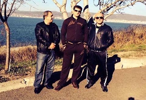 Слева воры в законе: Мераб Пипия, Гия Зарандия и Гизо Кардава