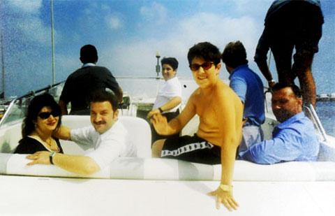 Слева: Тельман Исмаилов с супругой, сын бизнесмена и начальник охраны Исмаилова Владимир Шестопалов