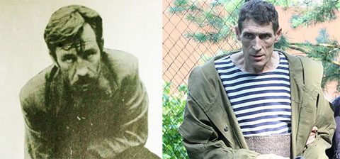 Слева: маньяк Алексей Суклетин, справа его прототип из сериала Метод