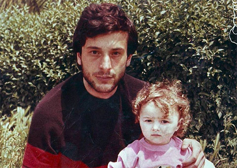 Вор в законе Малхаз Кития с дочерью