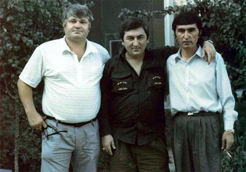 Слева воры в законе: Евгений Васин (Джем), Датико Цихелашвили (Дато Ташкентский) и Юлдаш Ашуров