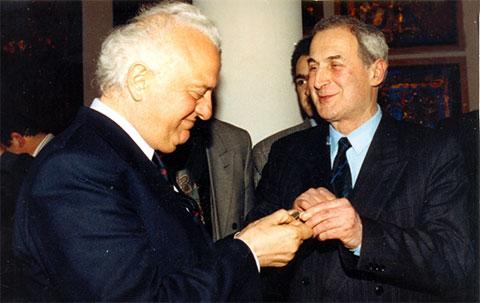 Эдуард Шеварднадзе и Джаба Иоселиани