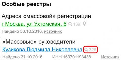 Людмила Кузикова возглавляет 326 компаний