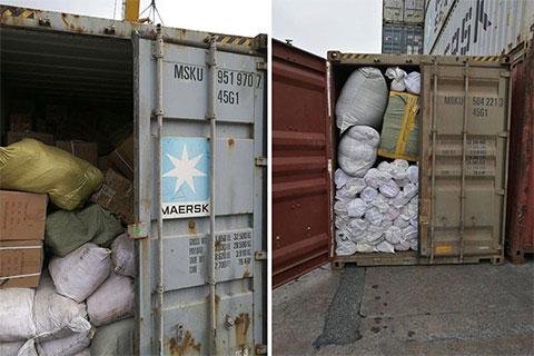Задержанные контейнеры с контрабандой