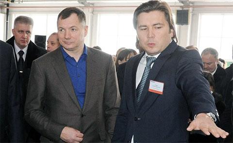 Слева: Марат Хуснуллин и Эльбек Сафаев (сын Марата Сафаева)