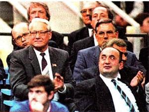 Отари Квантришвили и Борис Ельцин