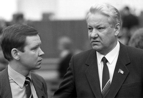 Сергей Станкевич и Борис Ельцин