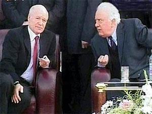 Слева: Аслан Абашидзе и Эдуард Шеварнадзе