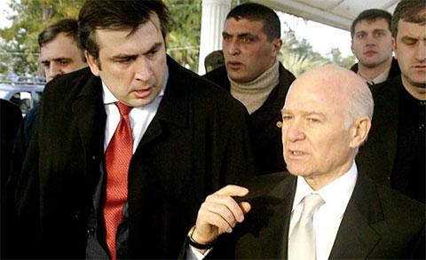 Михаил Саакашвили и Аслан Абашидзе